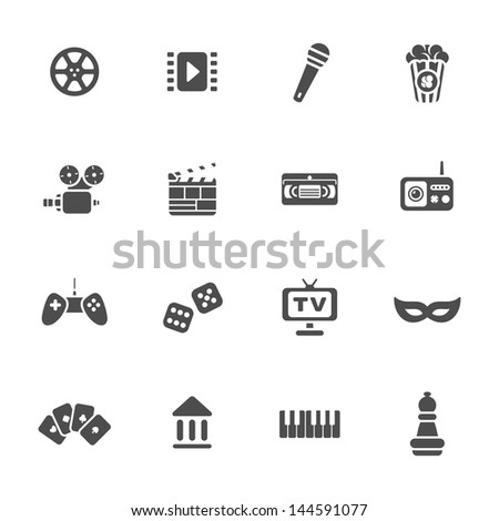 Multimedia icons vector set - stock vector