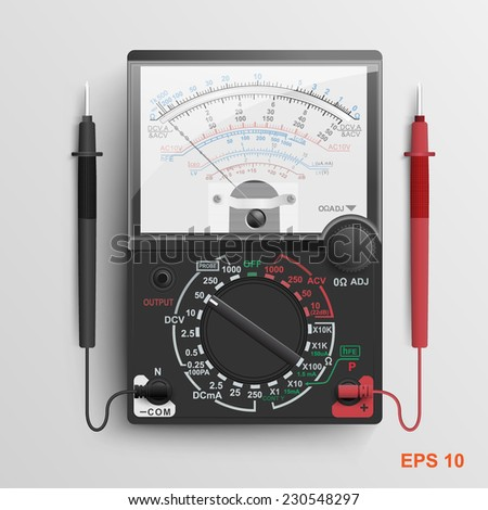 Multimeter.Vector illustration.  - stock vector