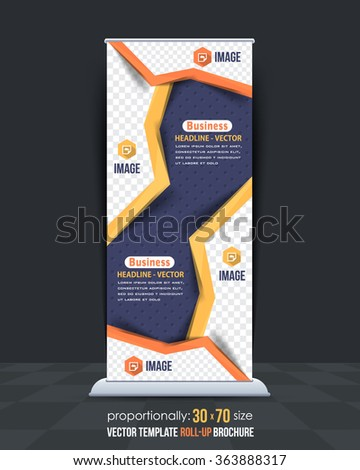 Multipurpose Flat Style Business Concept Roll-Up Banner Design - stock vector