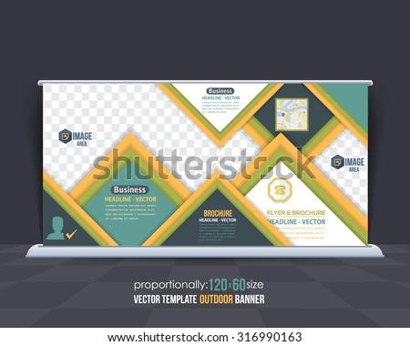 Multipurpose Outdoor Banner Design, Advertising Vector Template  - stock vector