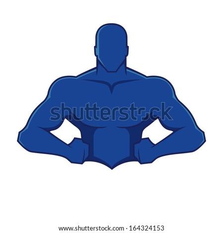 Muscle man figure - stock vector