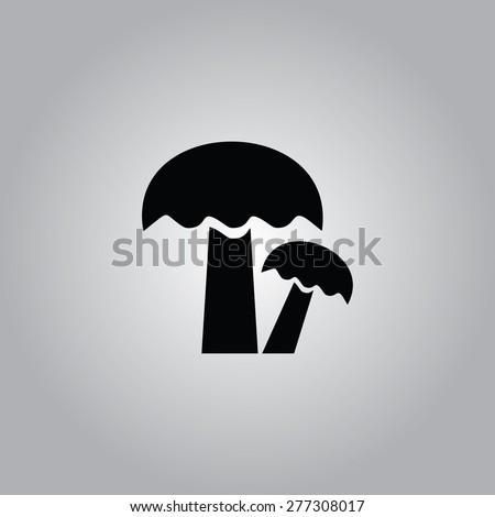 Mushroom Icon. - stock vector
