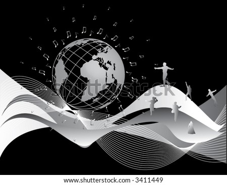 Music Abstract - stock vector
