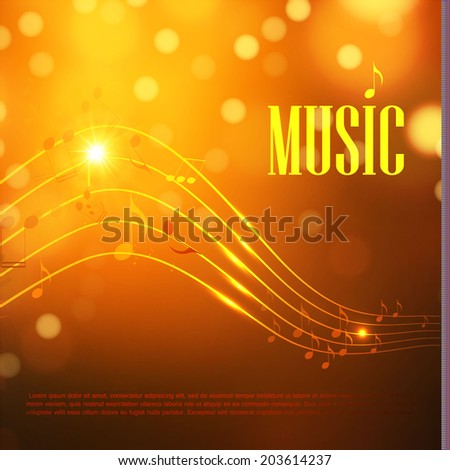 Music abstract light background. Vector illustration - stock vector