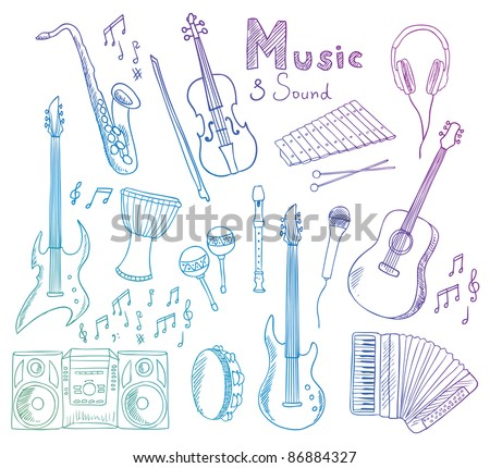 music and sound vector collection - stock vector