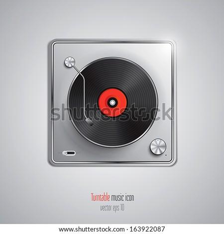 Music app icon. Vector - stock vector