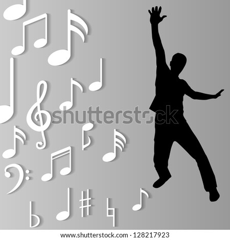 music background - stock vector