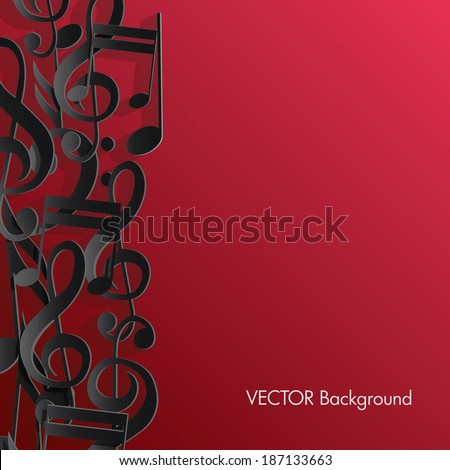music background. - stock vector