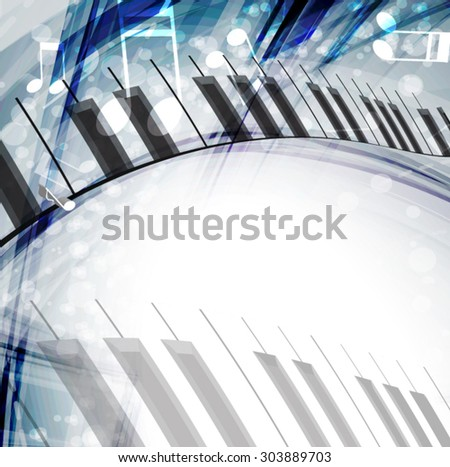 Music background. Vector - stock vector