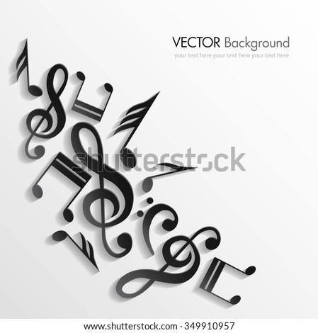 Music background. Vector illustration - stock vector