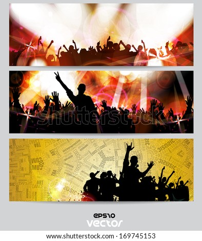 Music banners set. Vector - stock vector