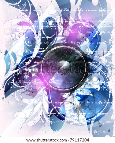 Music concept poster - stock vector