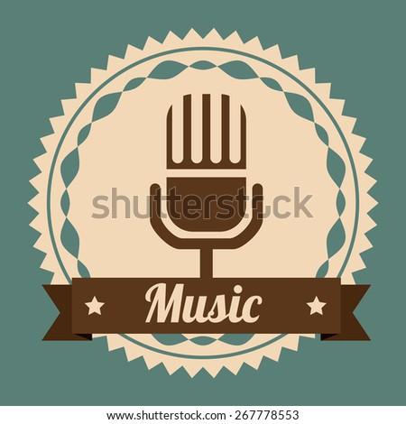 Music design over blue background, vector illustration - stock vector