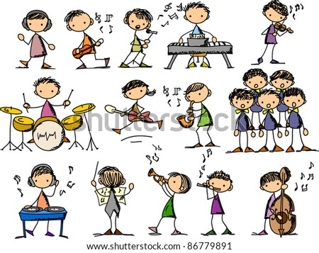 Music Doodles - stock vector