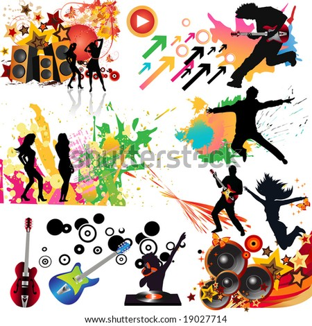 Music elements. - stock vector