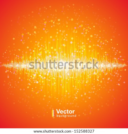 Music equalizer, sound technology - stock vector
