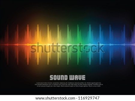 Music equalizer wave. Vector illustration - stock vector