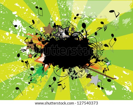 music grunge poster - stock vector