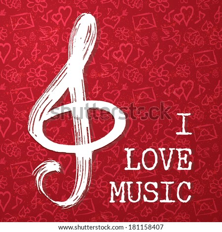 music handmade vector illustration - stock vector