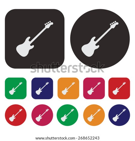 Music icon / electronic guitar icon - stock vector
