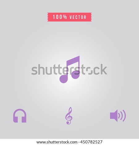 music icon. music sign - stock vector