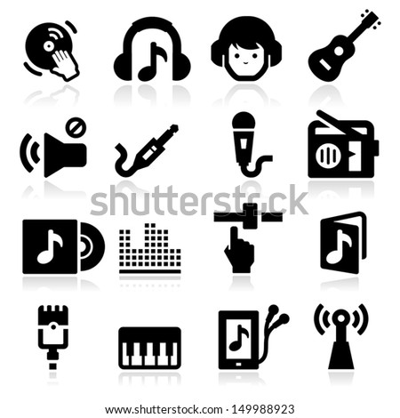 Music Icons two - stock vector