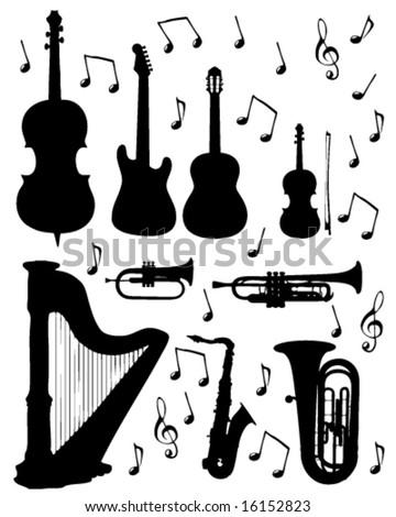 music instrument - stock vector