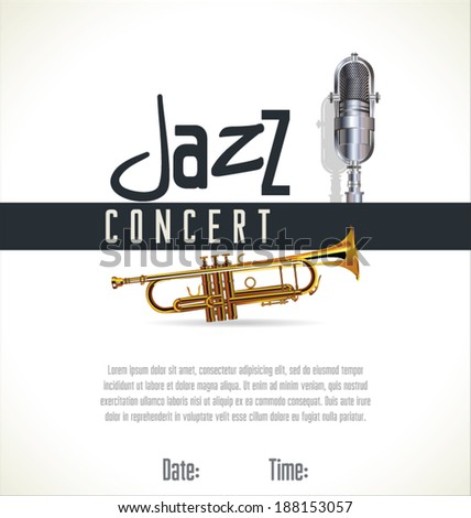Music jazz background - stock vector