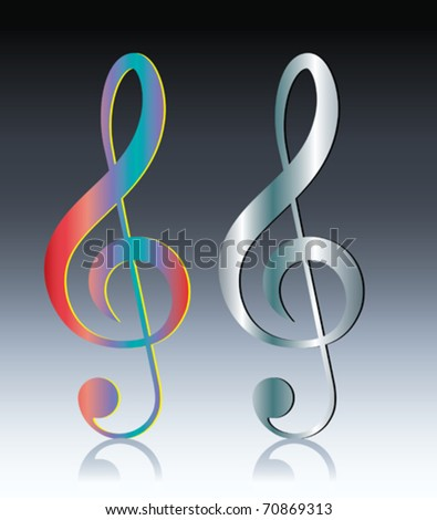 Music note - stock vector