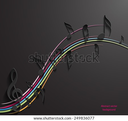 Music note background design. Vector eps10. - stock vector