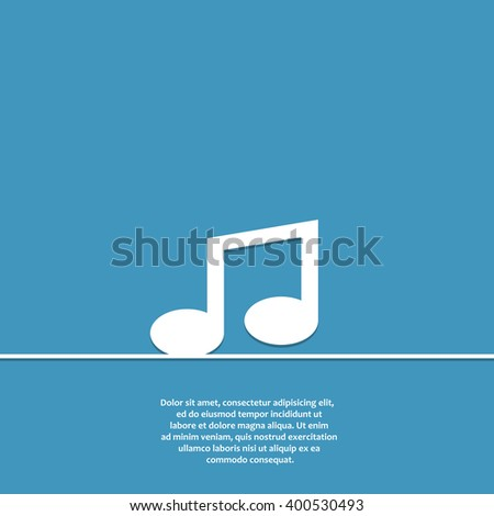 music note flat vector icon. music note icon eps. music note icon jpg. music note icon sign. music note icon art. music note icon drawing. music note icon design. music note icon isolated.  - stock vector