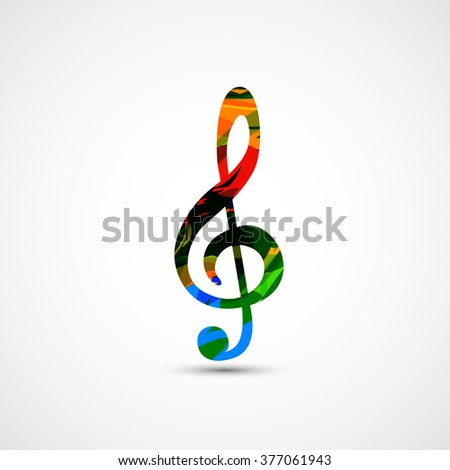 Music note Icon background easy all editable - stock vector