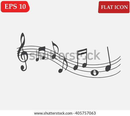 Music note Icon . Melody icons set.Vector illustration - stock vector