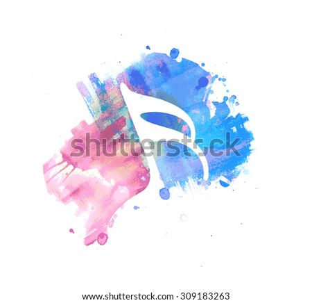 Music note symbols. Single flat icon, colorful. Vector illustration. - stock vector