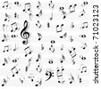 Music notes seamless - stock vector
