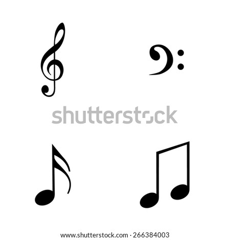 Music notes vector - stock vector