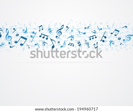 Music notes vector background eps 10  - stock vector