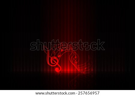 Music on stage - red edition - stock vector