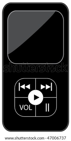 Music player - stock vector