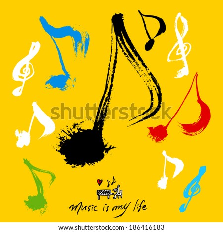 music poster - stock vector