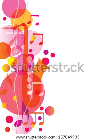 Music song background. Vector illustration - stock vector