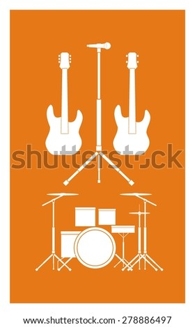 music tool simple illustration - stock vector