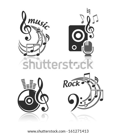 Music vector elements set - stock vector