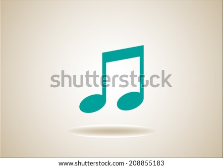 music vector icon - stock vector