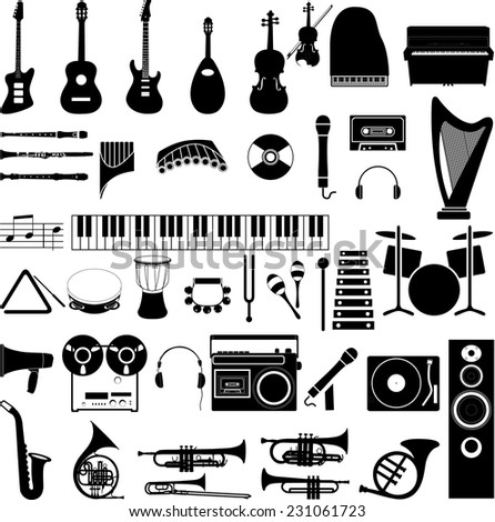 Music vector illustration icons - stock vector