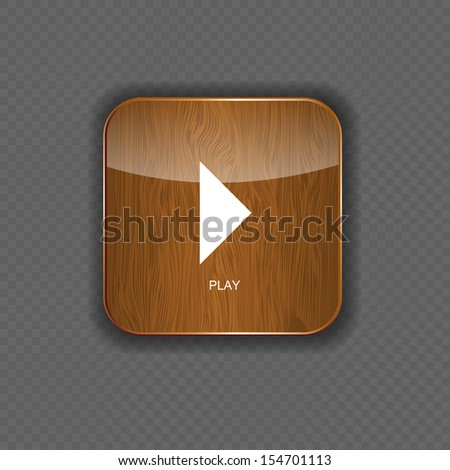Music wood application icons vector illustration - stock vector