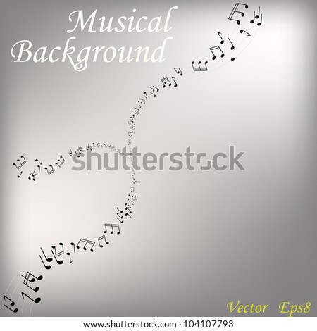 Musical background.Vector - stock vector