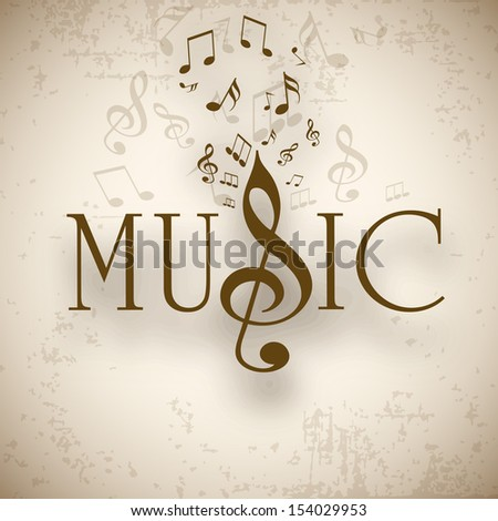Musical background with musical notes, can be use as flyer, poster or banner in concerts and parties.  - stock vector