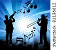 Musical group - stock vector
