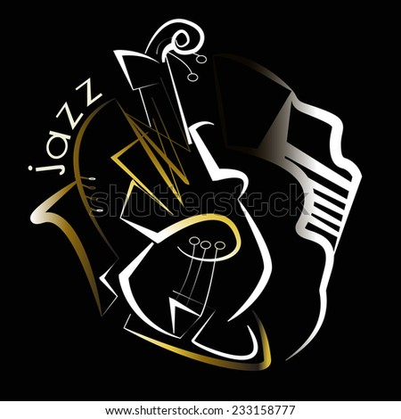musical  jazz - stock vector